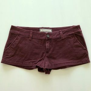Abercrombie & Fitch maroon short shorts